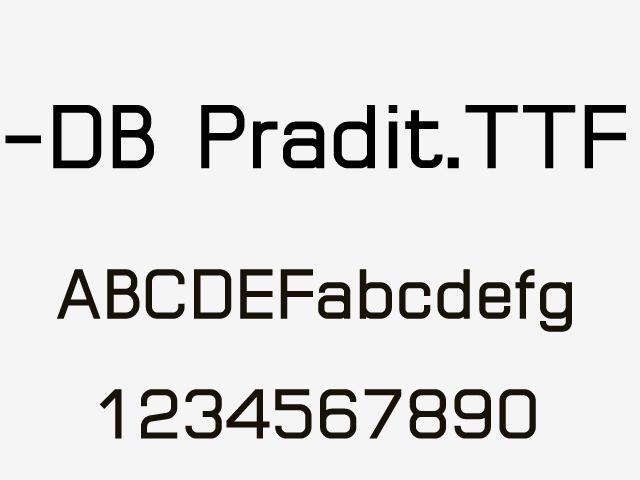 -DB Pradit.TTF一款不错的英文字体