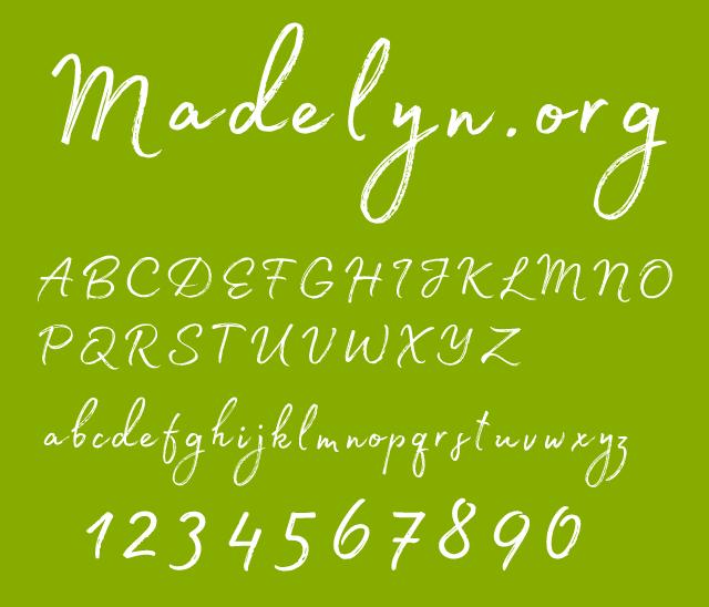 一款常用的英文字体Madelyn Regular.otf