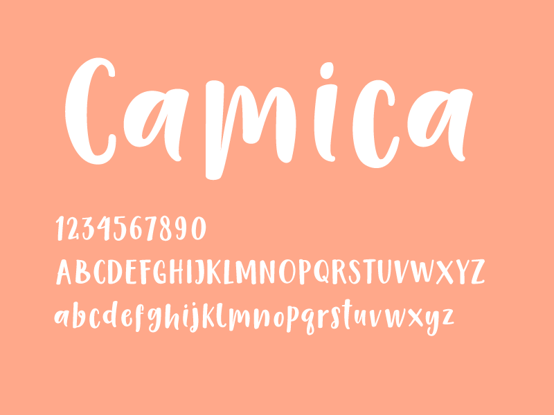 英文字体Camica